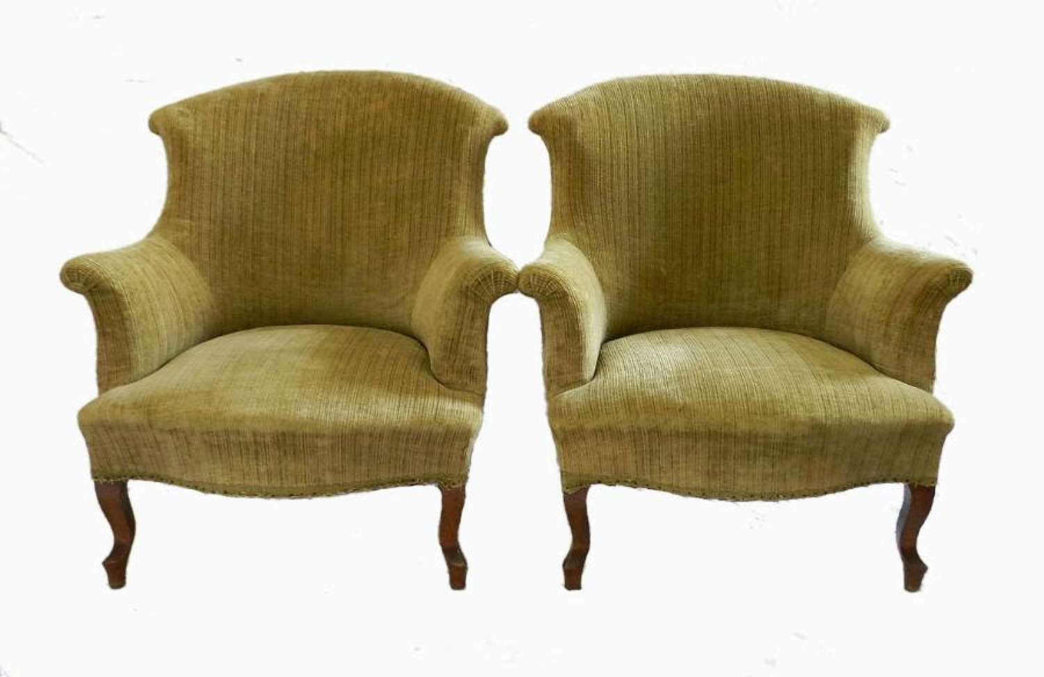 Pair C19 Louis French Armchairs