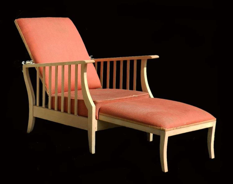 Arts & Crafts Morris Chair Folding Art Deco Reclining Armchair Lounger