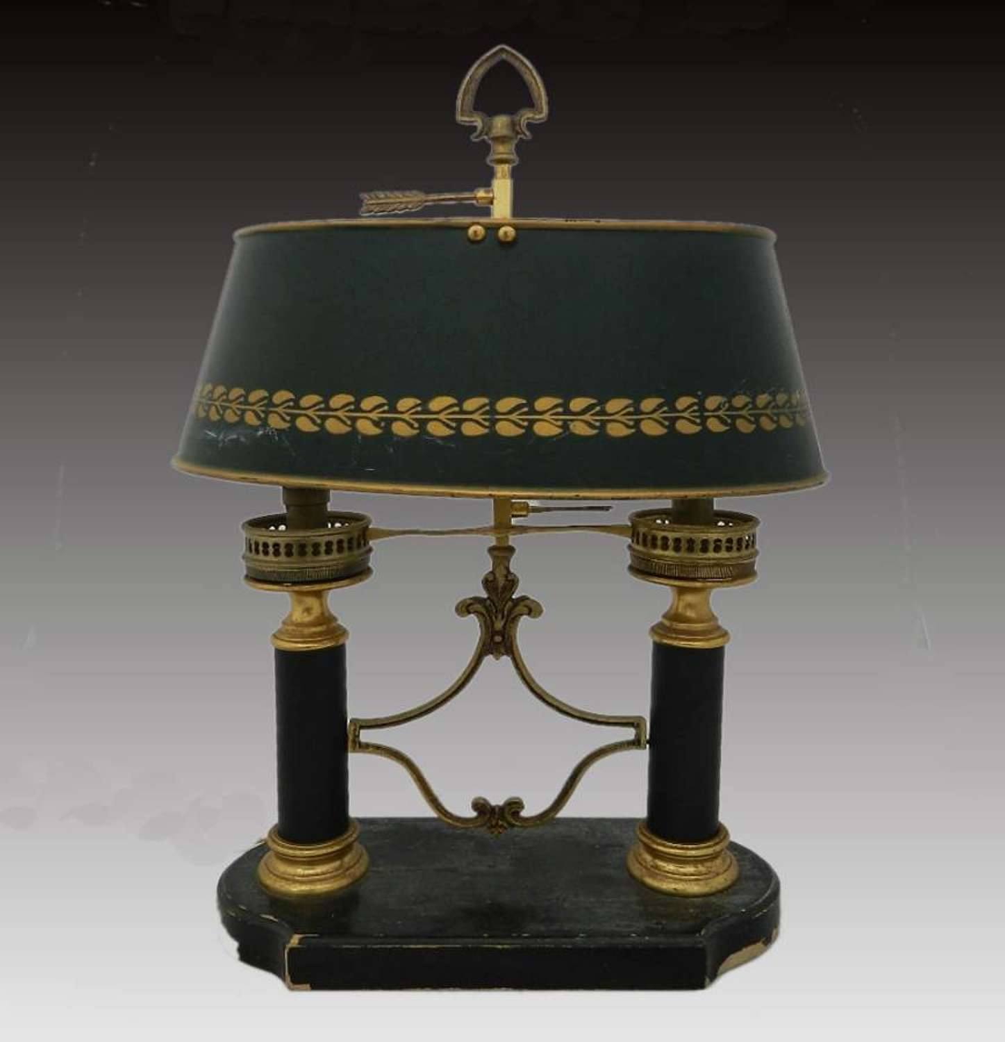 French  Bouillotte Table Lamp Napoleon III 2nd Empire
