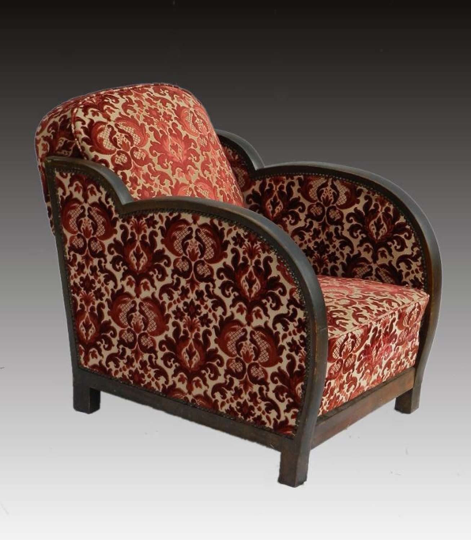 Art Deco Armchair Reclining back Cloud Chair