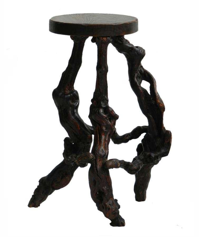 Unusual Antique Vine Root Stool