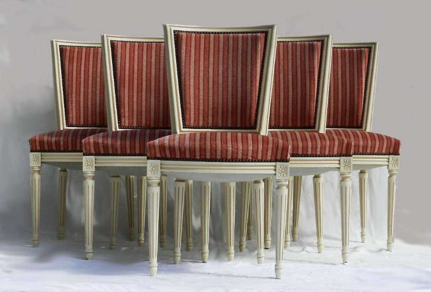 6 French Dining Chairs Louis revival