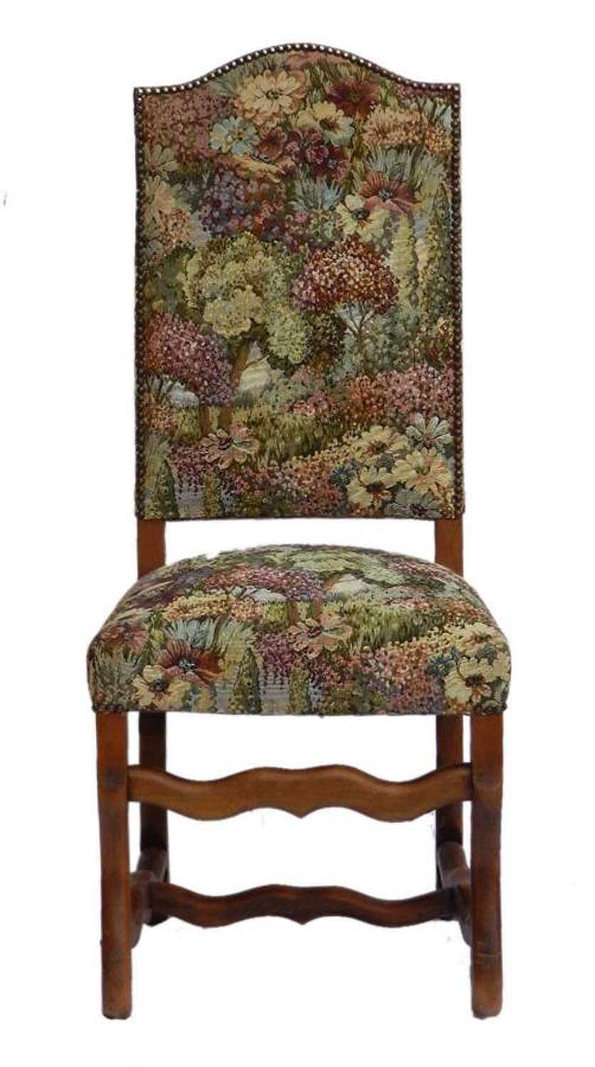 6 French Dining Chairs Os de Mouton