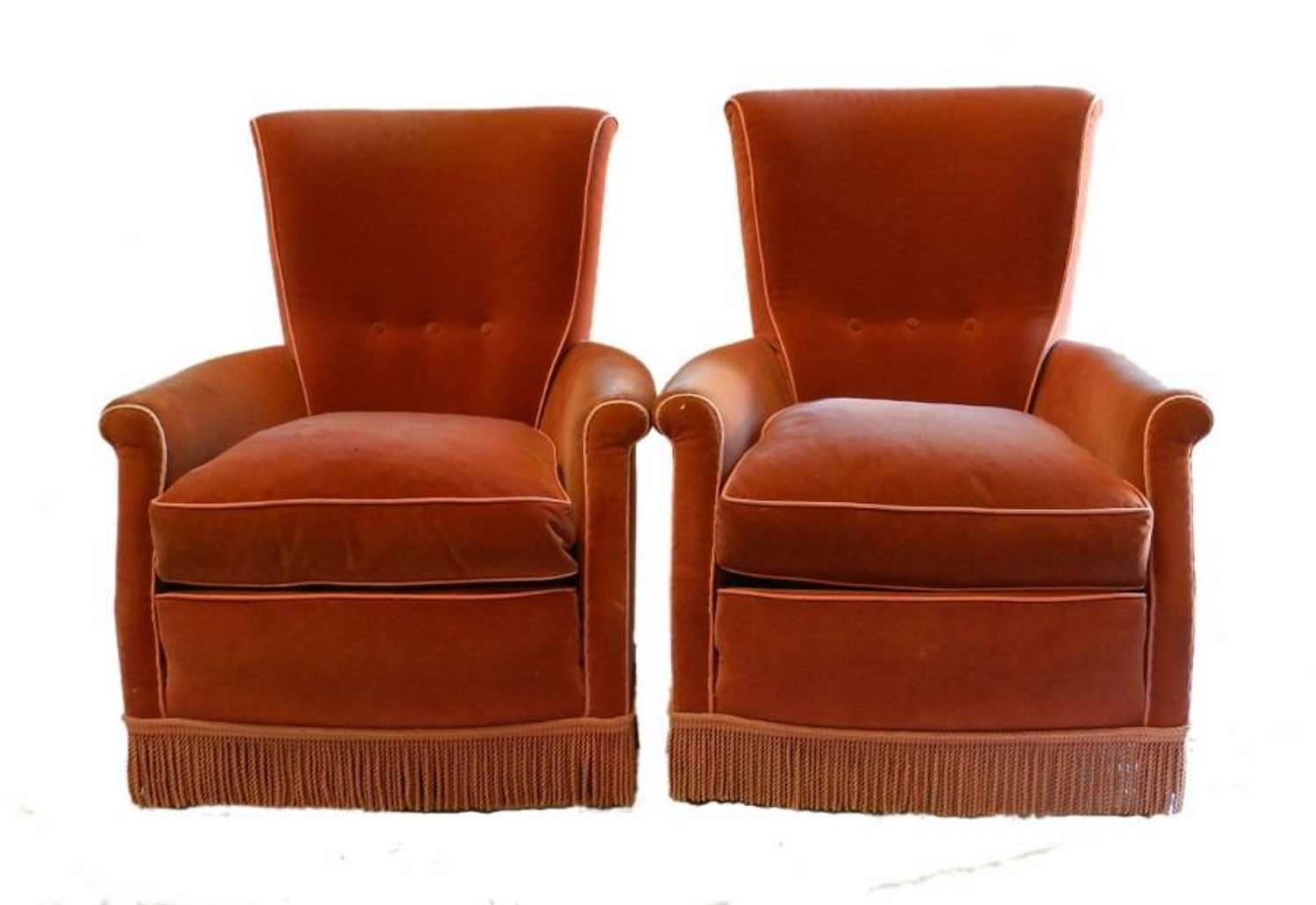 Stylish Pair French Art Deco Armchairs