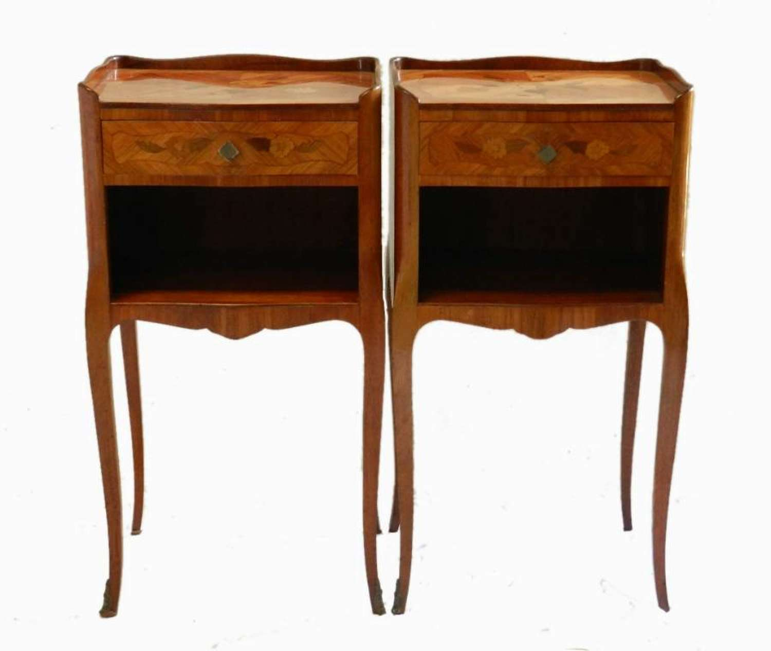 Pair French Side Cabinets Bedside Tables Nightstands