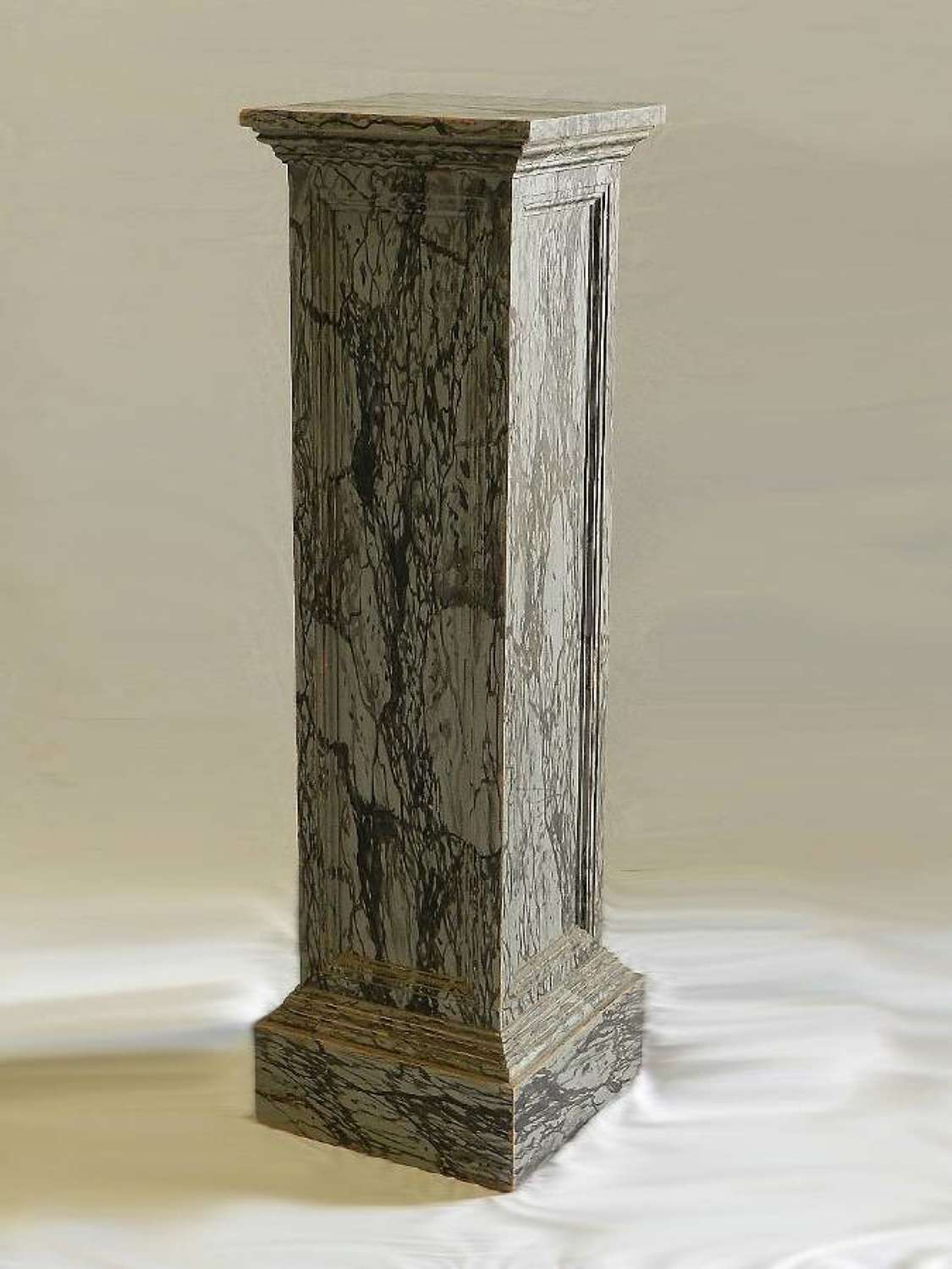Original C19 French Painted Column Faux Marble