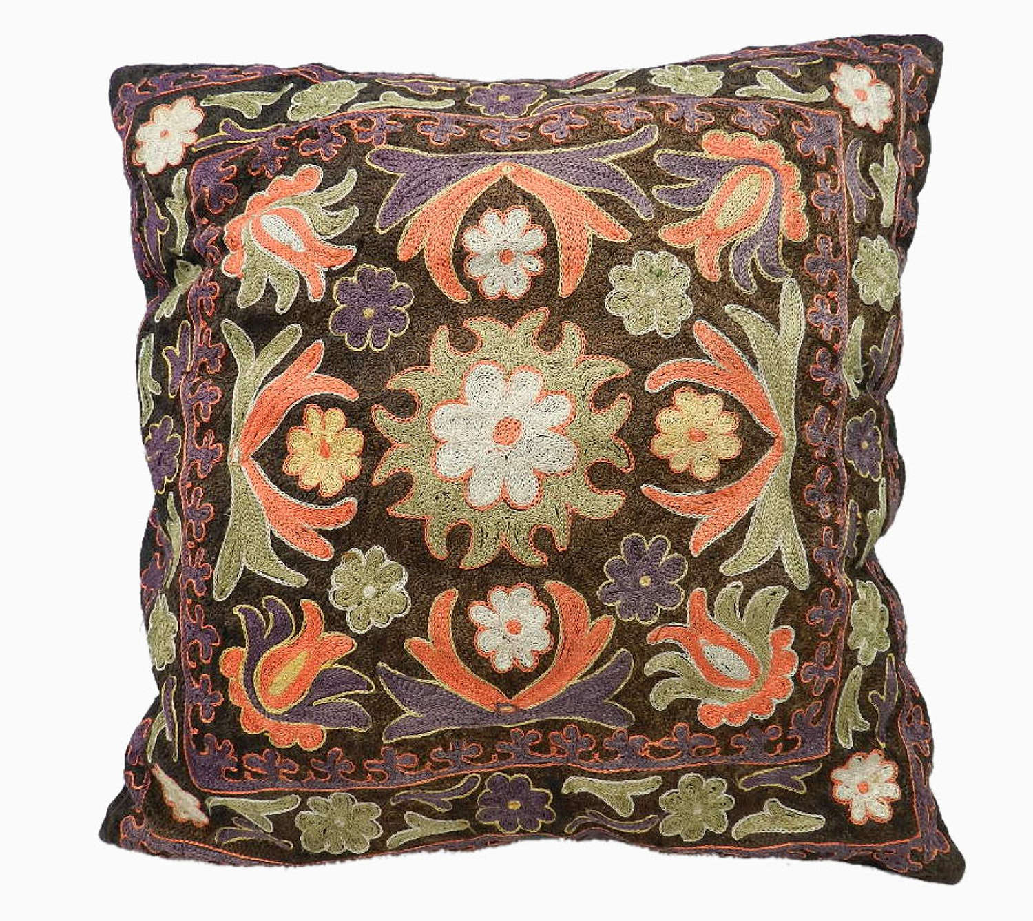 Vintage Turkish Embroidered Accent Cushion 3 available