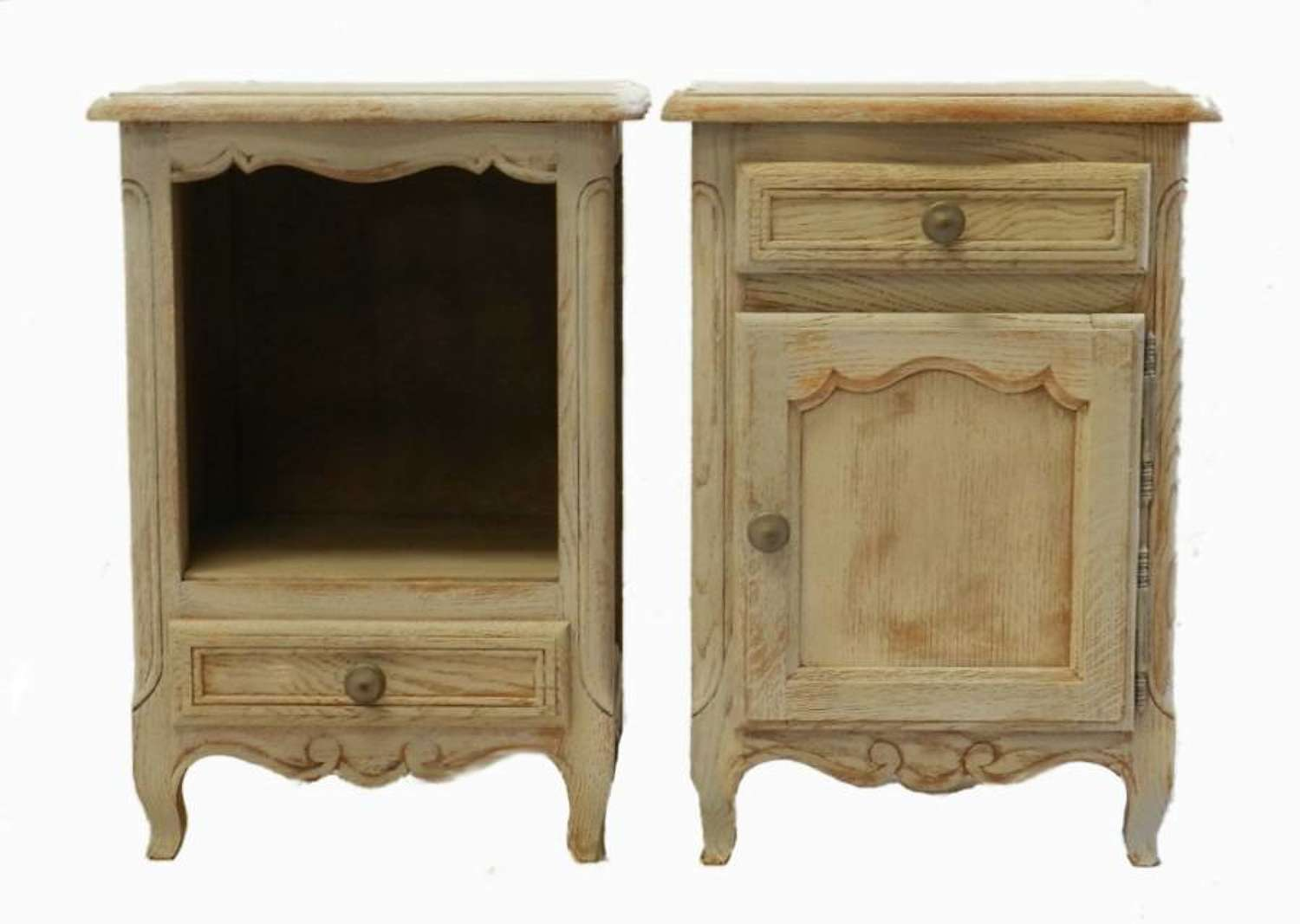 Pair of French Side Cabinets Bedside Tables Nightstands
