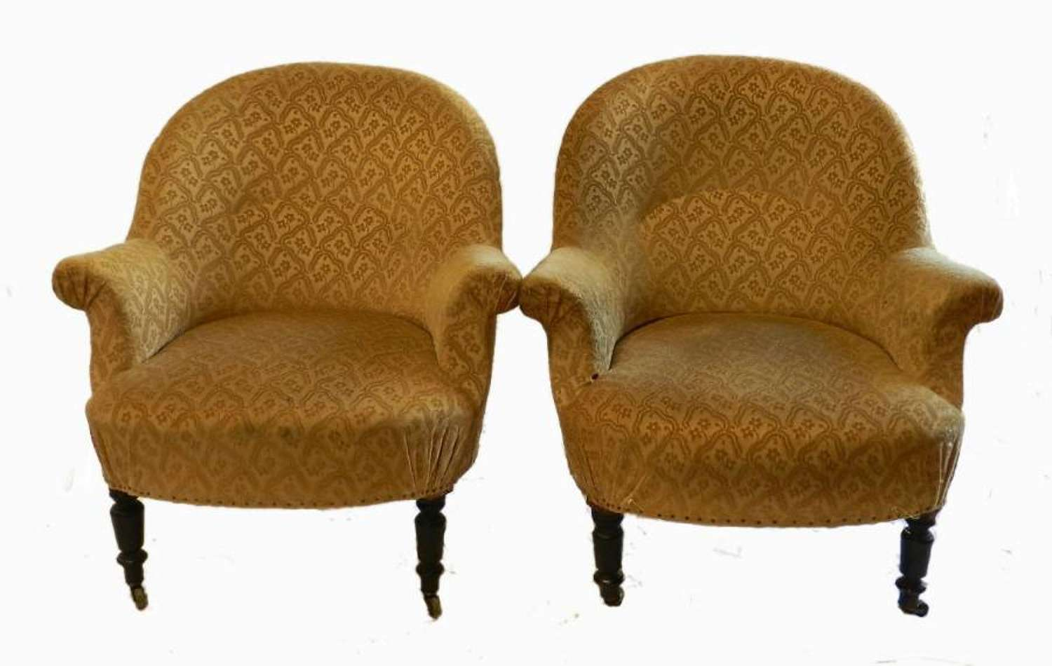 C19 Pair French Armchairs to recover
