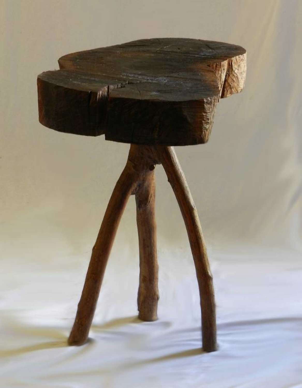 Antique Root Coffee Table Side or Console Olive Wood