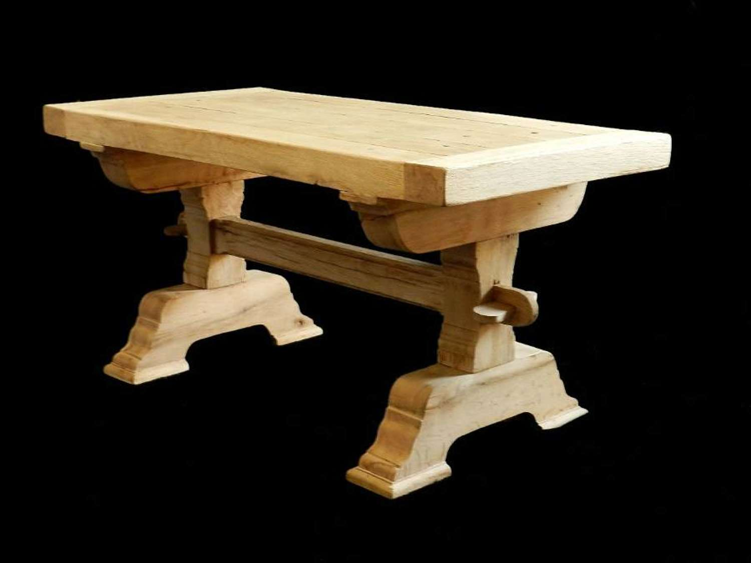 Refectory Coffee Table Bleached Oak French Farmhouse