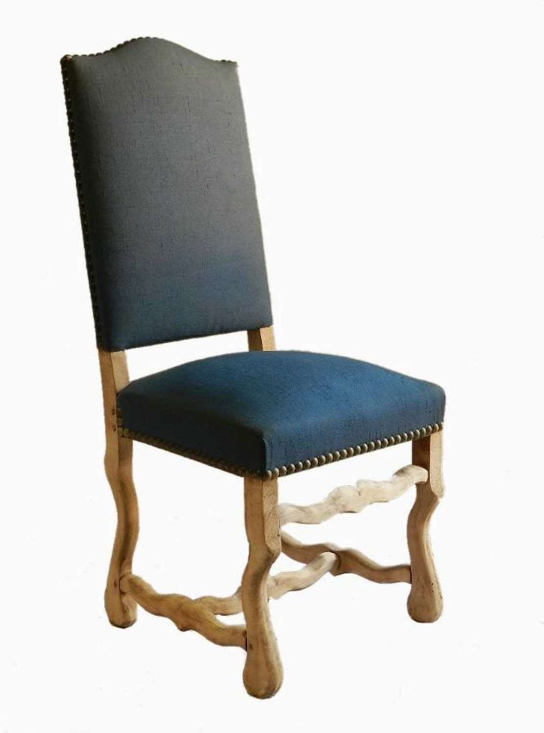 6 Os de Mouton Dining Chairs Bleached to recover