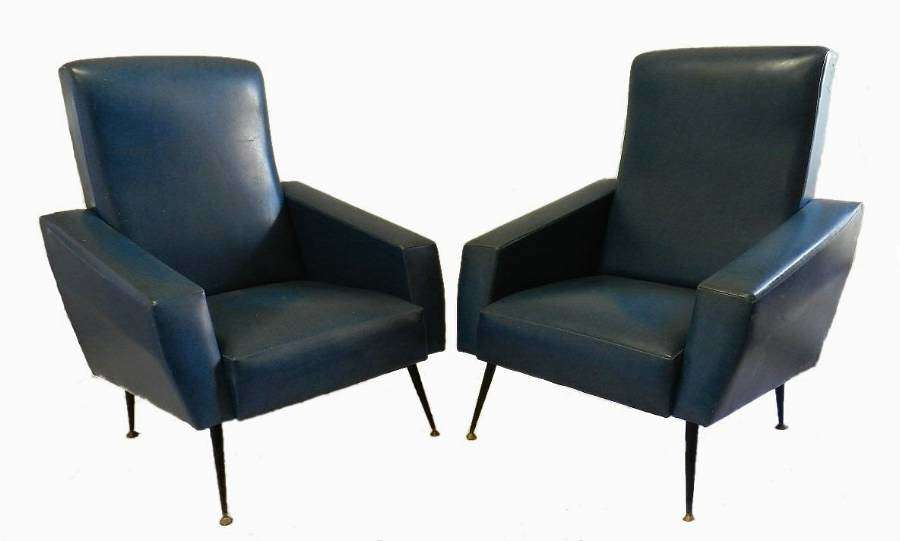 Pair of Mid Century Armchairs French to recover 4 available