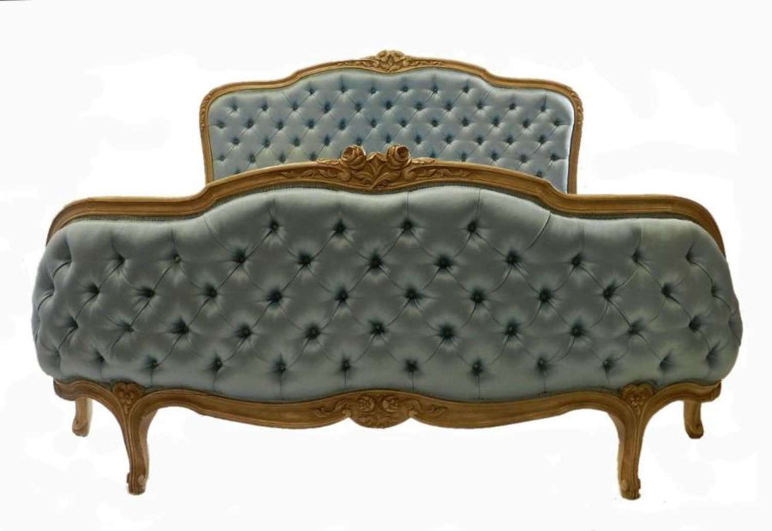 Rare French King size Bed Corbeille + Base