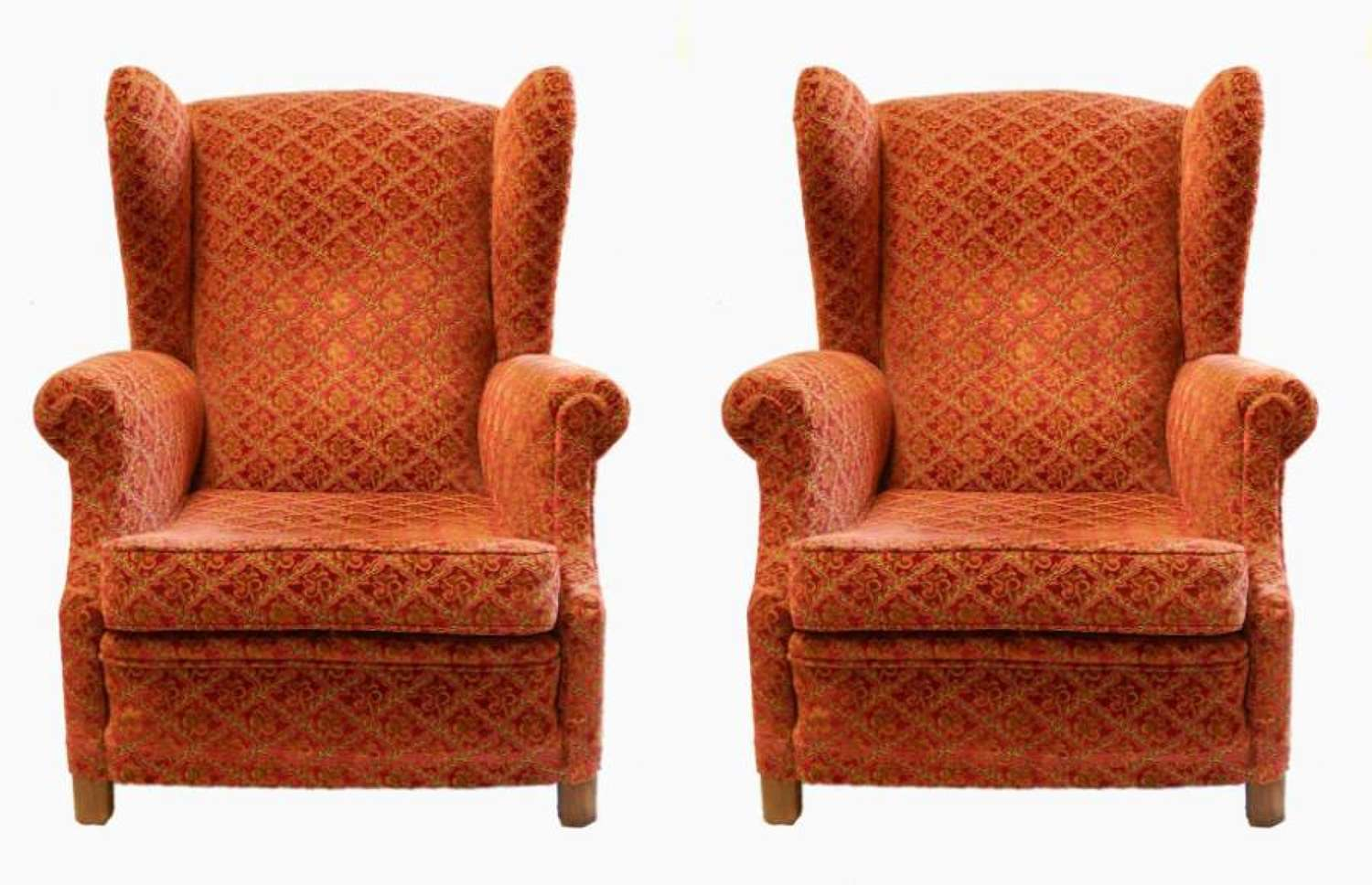 Pair of  Wing Armchairs French 1930s