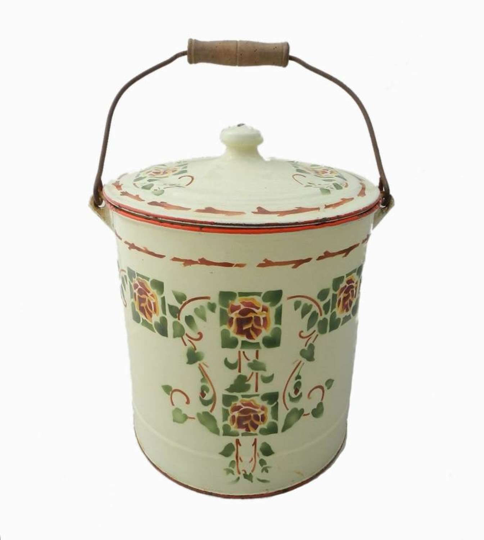 Splendid French Art Deco Bucket Tole ware