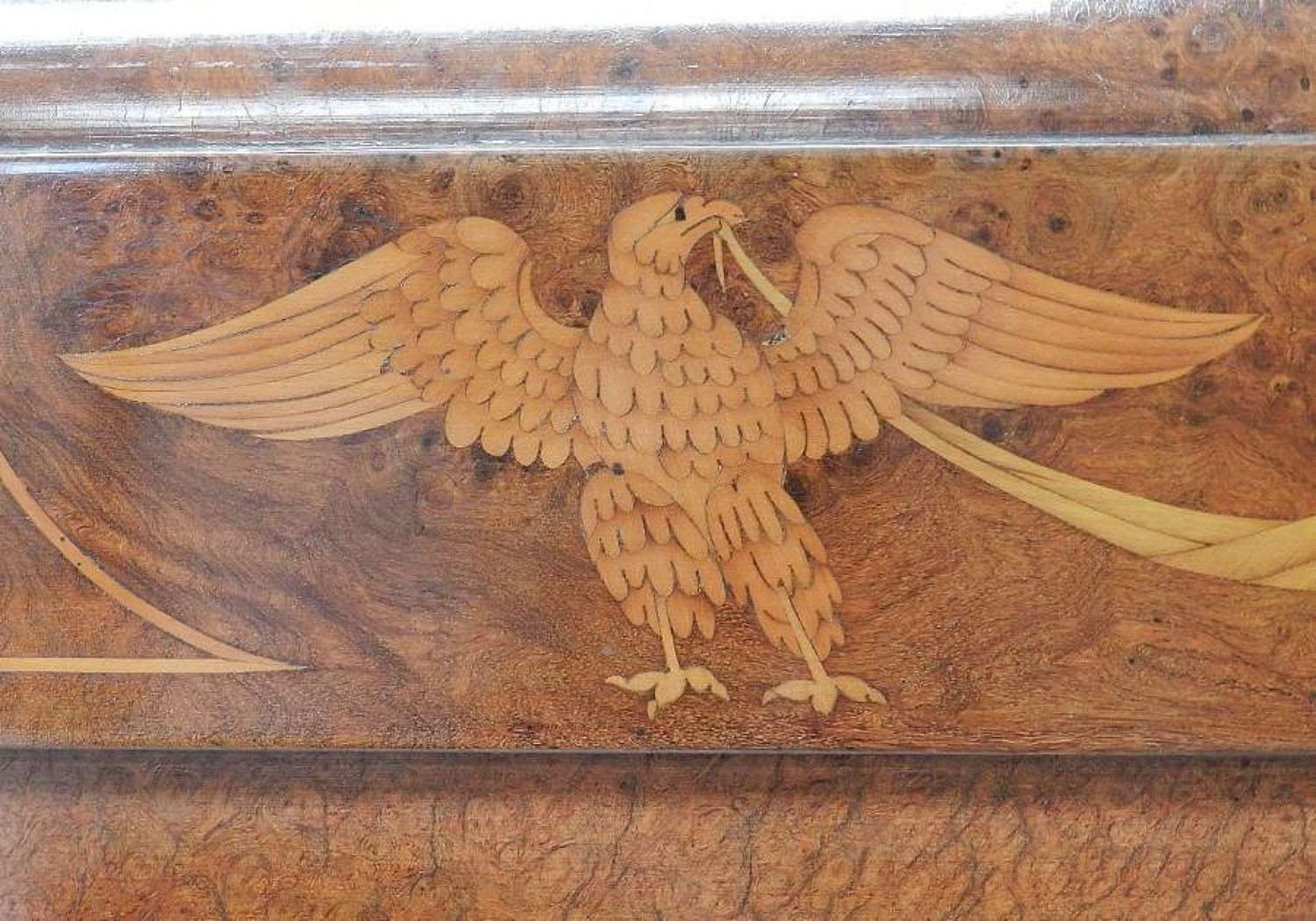 French Art Deco Empire King Size Bed or Super King Eagles Ormolu