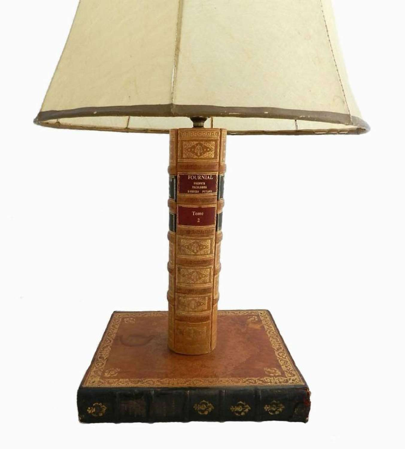 French Antique Book Lamp Desk or Table Light