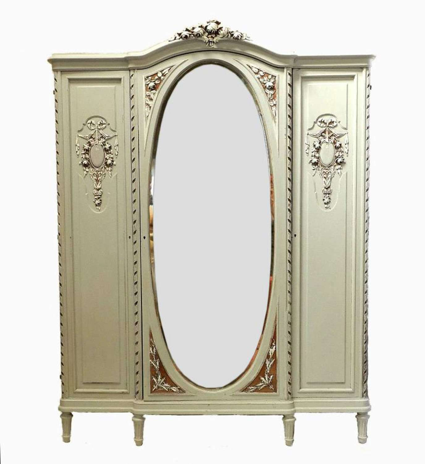 French Armoire painted C19 Louis XVI