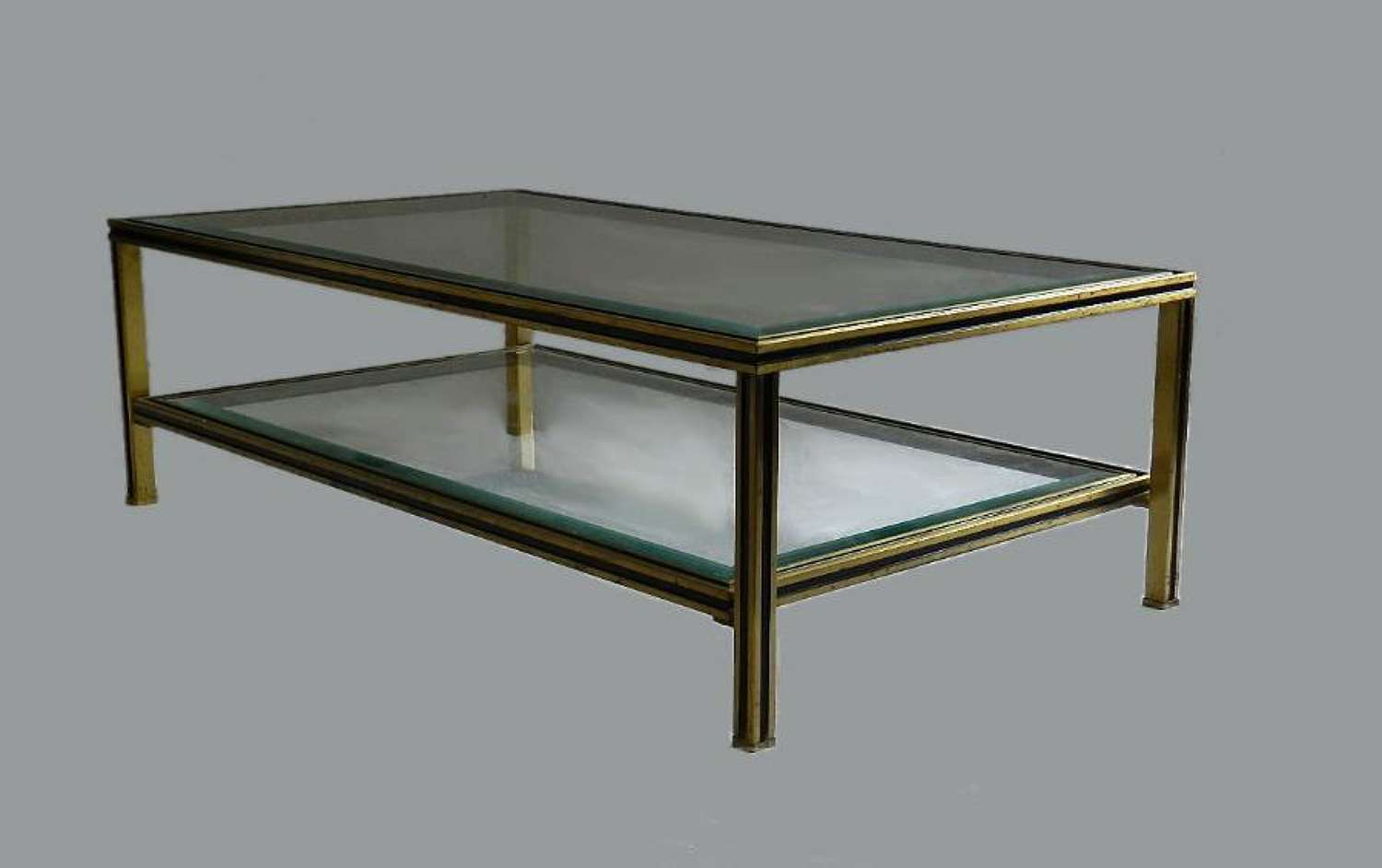 1970s French Coffee Table by Pierre Vandel Glass & Metal