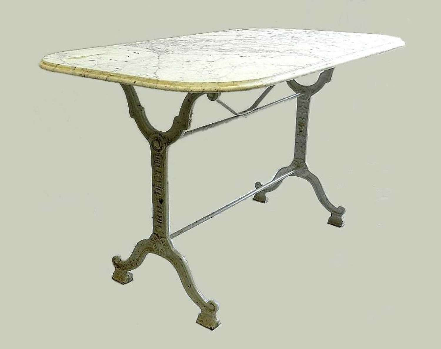 French Bistro Table Iron + Marble