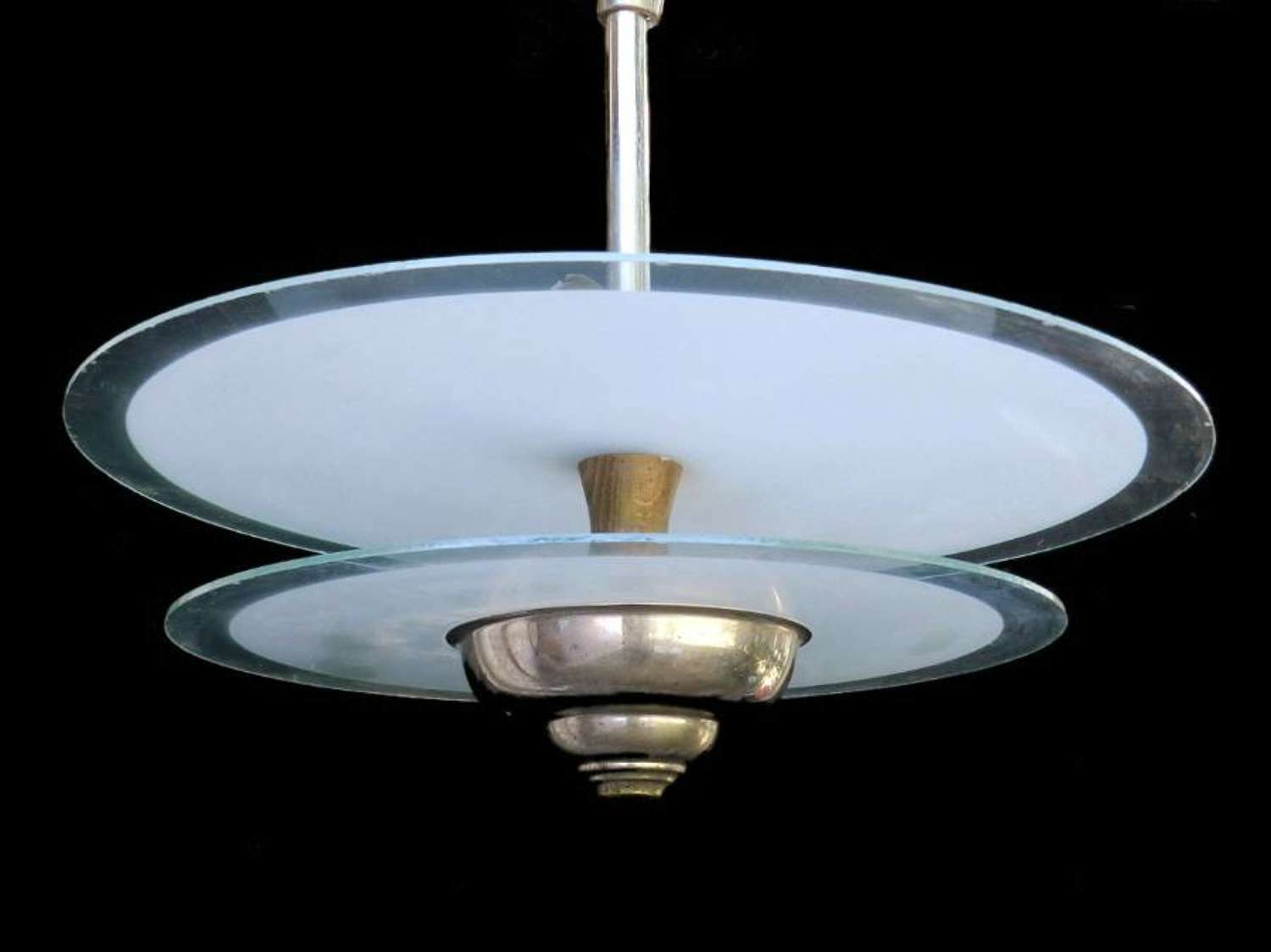 French Art Deco Hanging Light Ceiling UFO