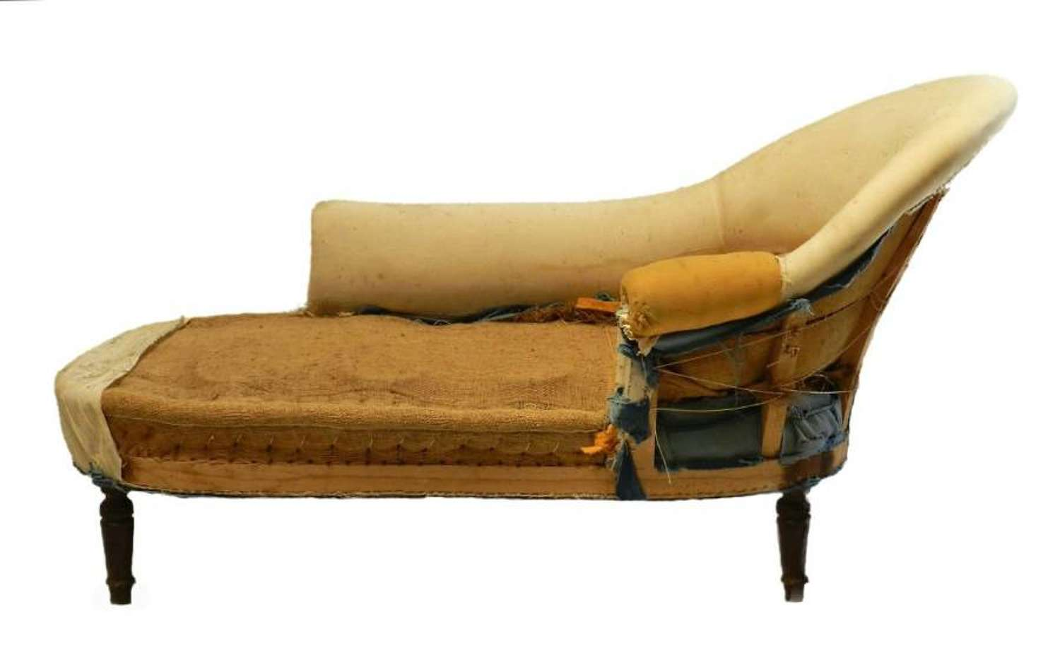 C19 French Chaise Longue Sofa to reupholster recover