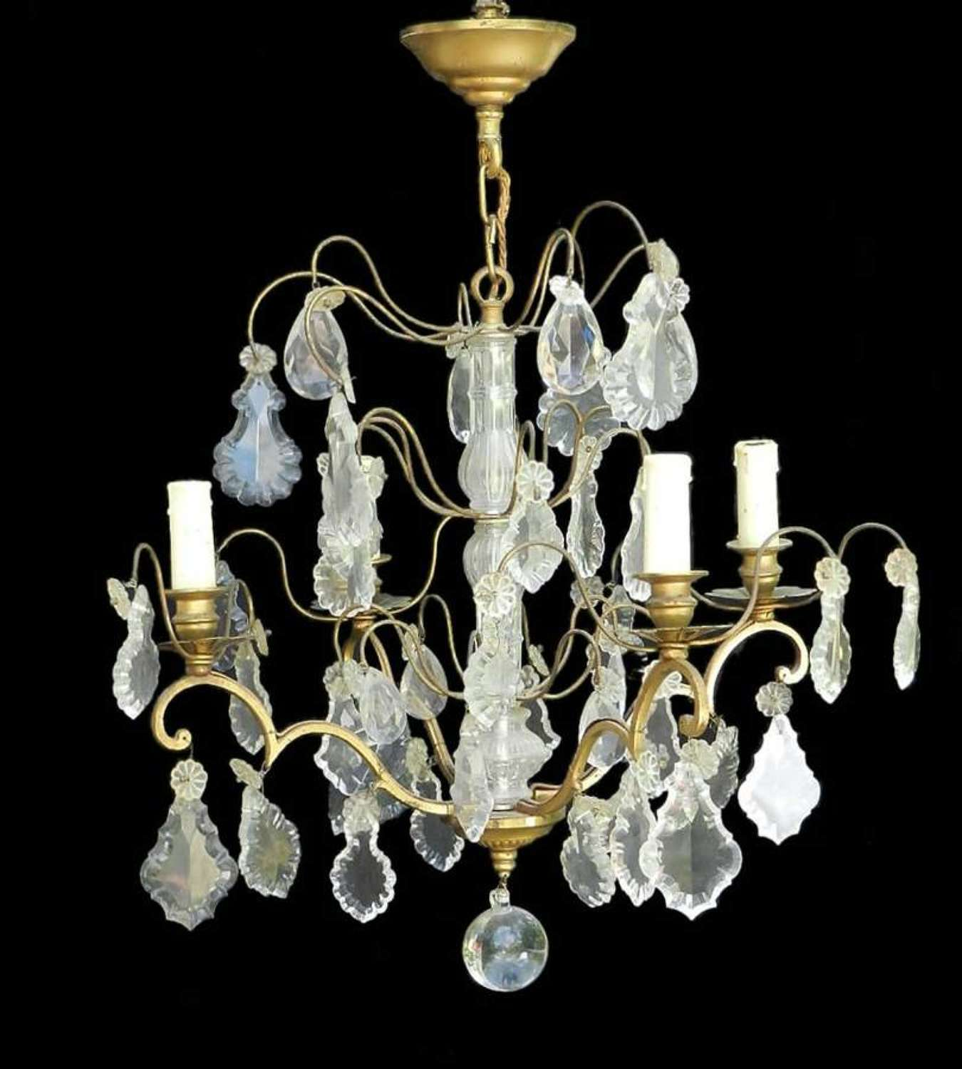French Drop Chandelier c1900