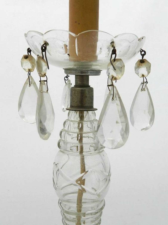 French Crystal Drop Lamp Base