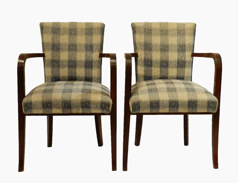 Pair of Art Deco French Bridge Chairs