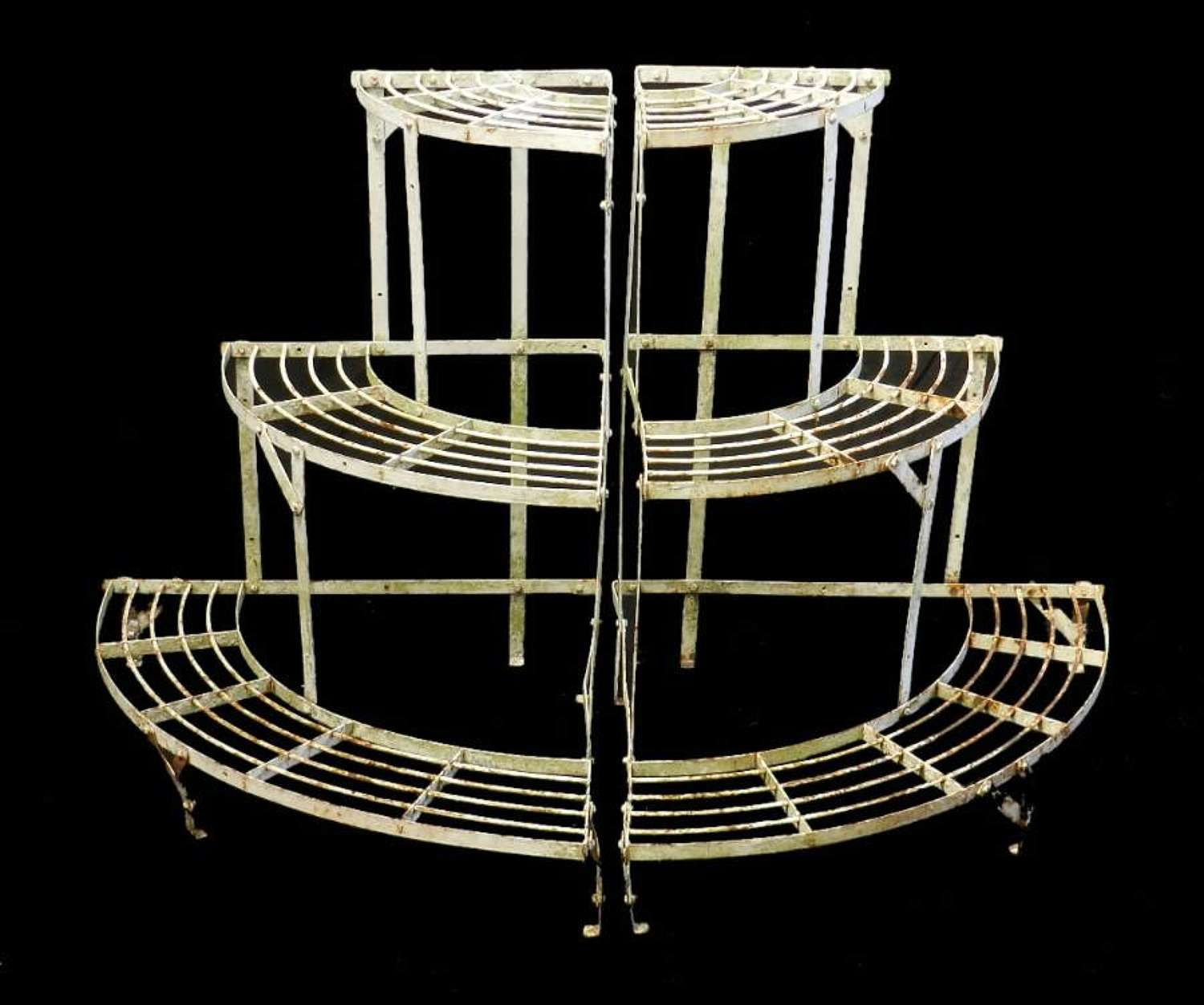 Pair of French metal Plant Stands Mid Century