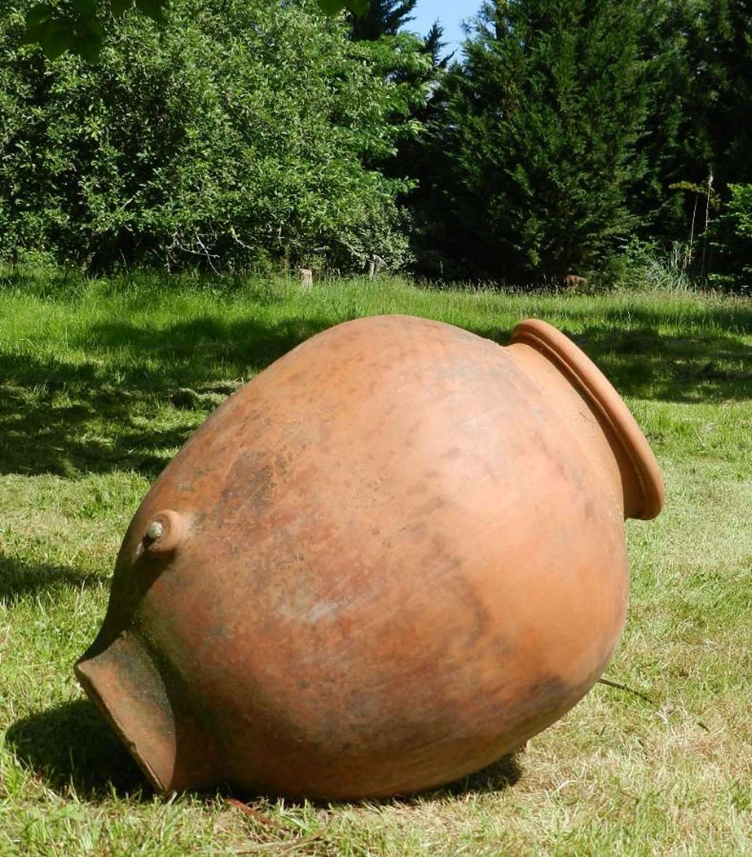 Large C19 Olive Pot Terracotta Oil Jar Garden Decoration