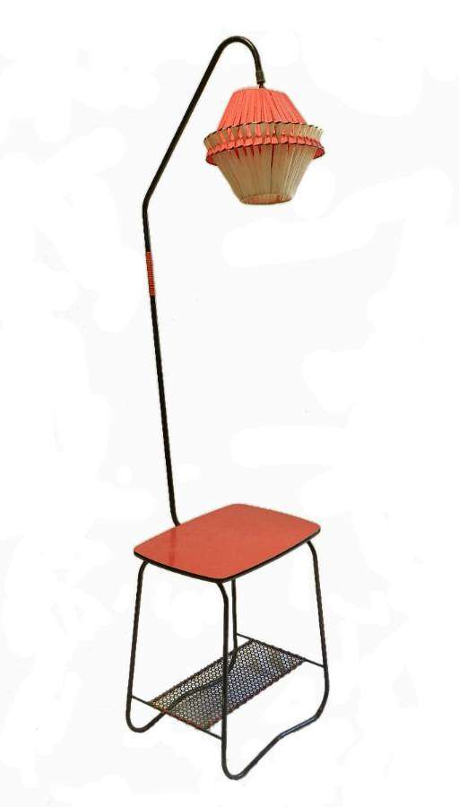 Mid Century Floor Lamp Coffee Table Magazine Rack