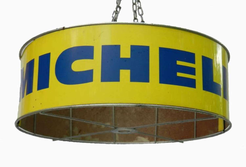 French Michelin Tole Ceiling Light Chandelier Industrial Loft