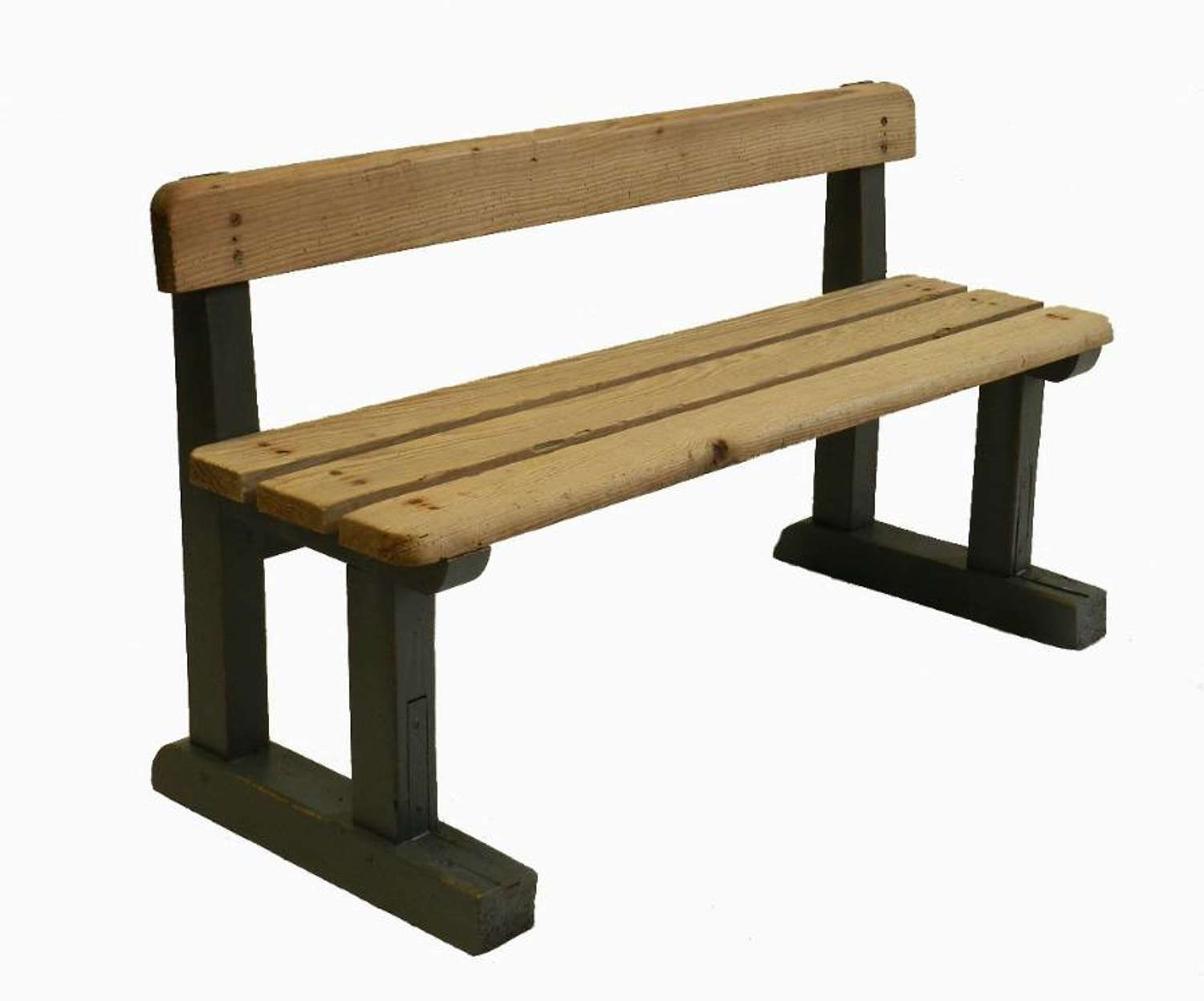 Bleached & Painted diminutive French Harvest Bench Garden Childrens Seat