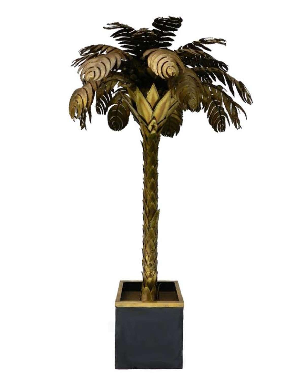 French Palm Tree Floor Lamp Maison Charles c1970