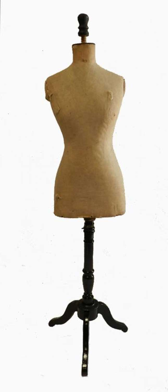 C19 French Dressmakers Tailors Dummy Mannequin