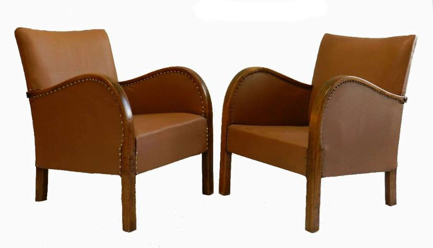 French Pair of Art Deco Armchairs to recover or use