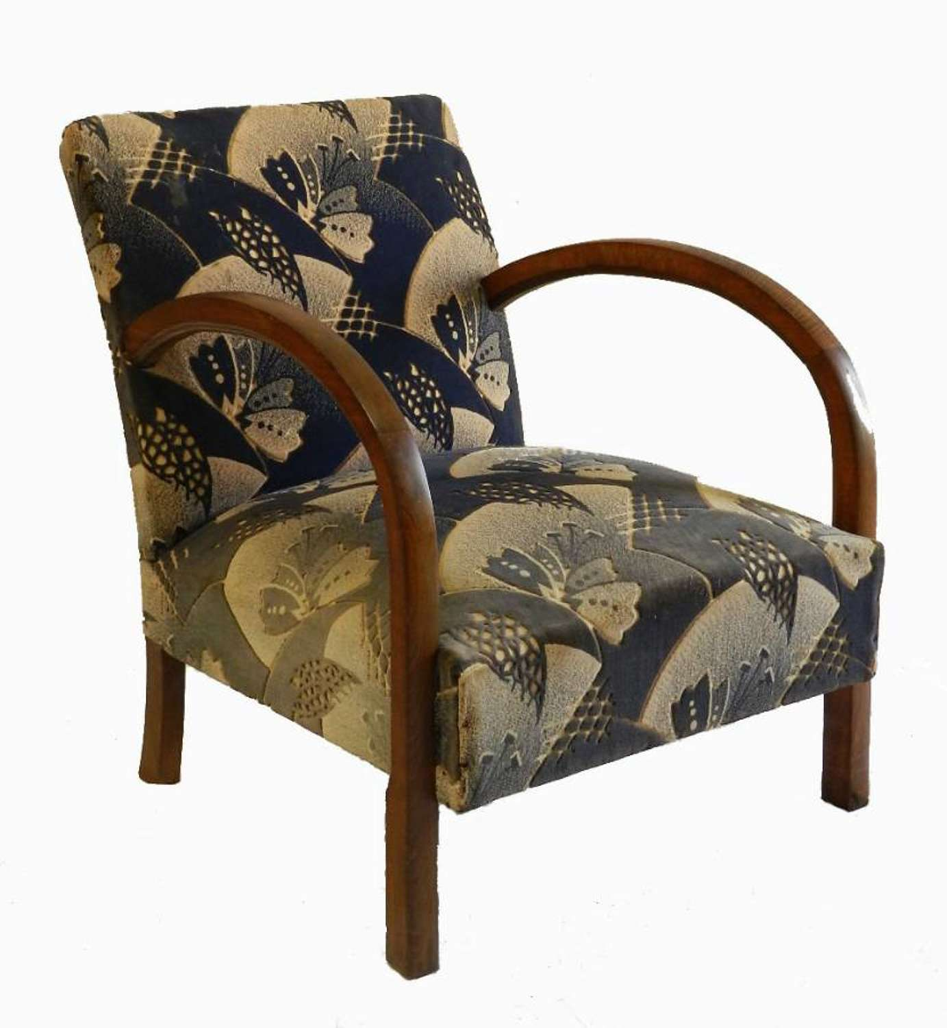 French Art Deco Armchair all original recover to suit