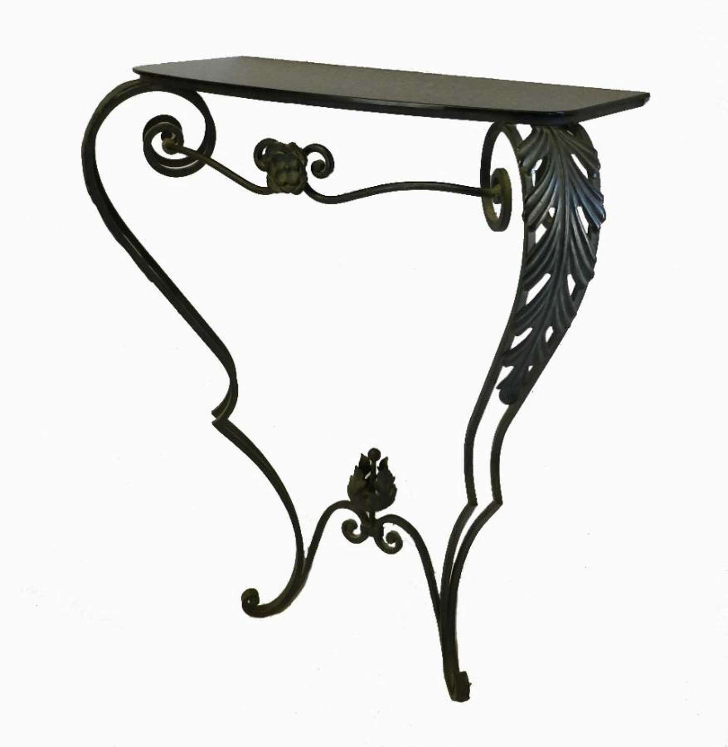 French Metal Console Table early C20
