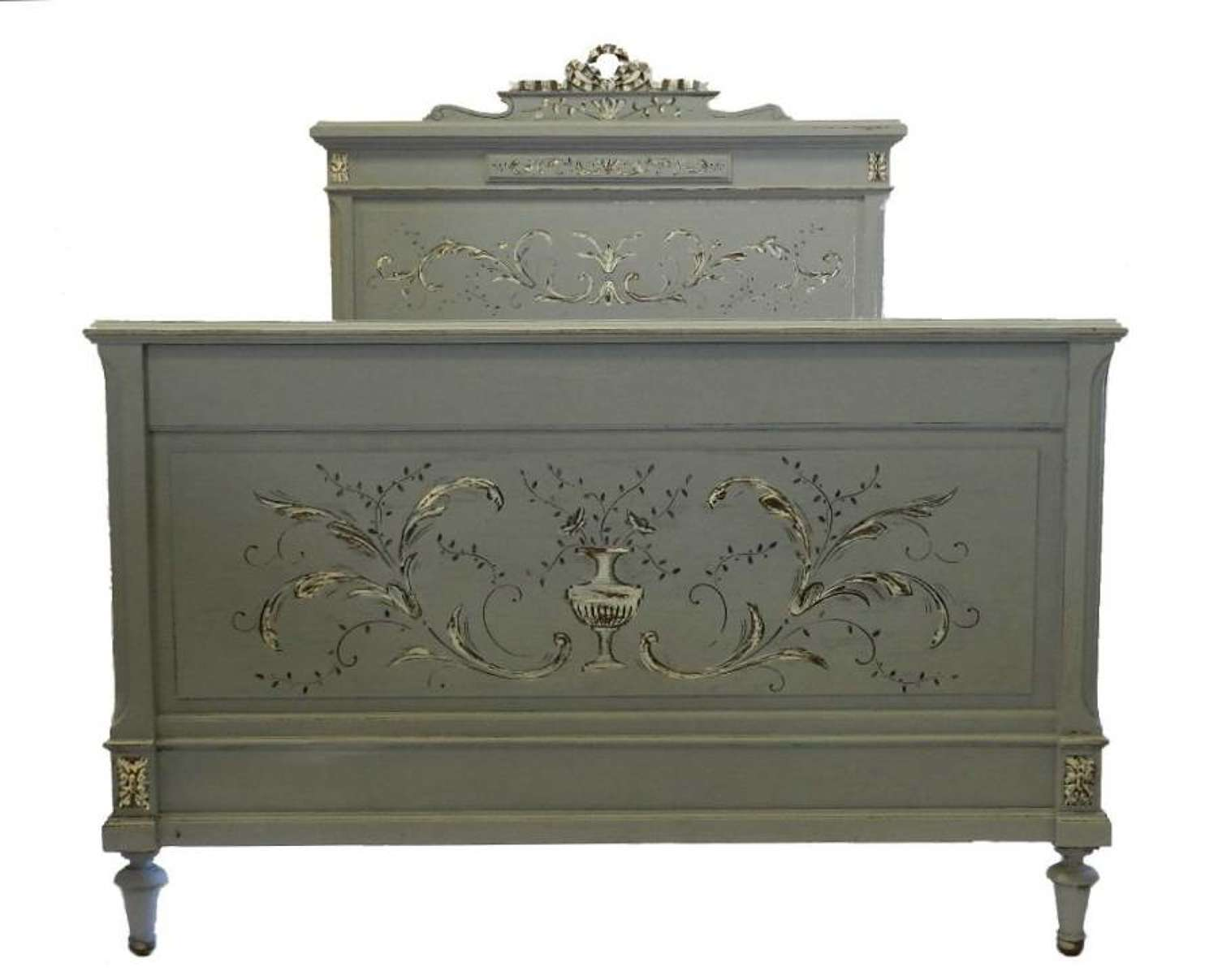 C19 Louis French Double Bed + Base Painted & ready to go