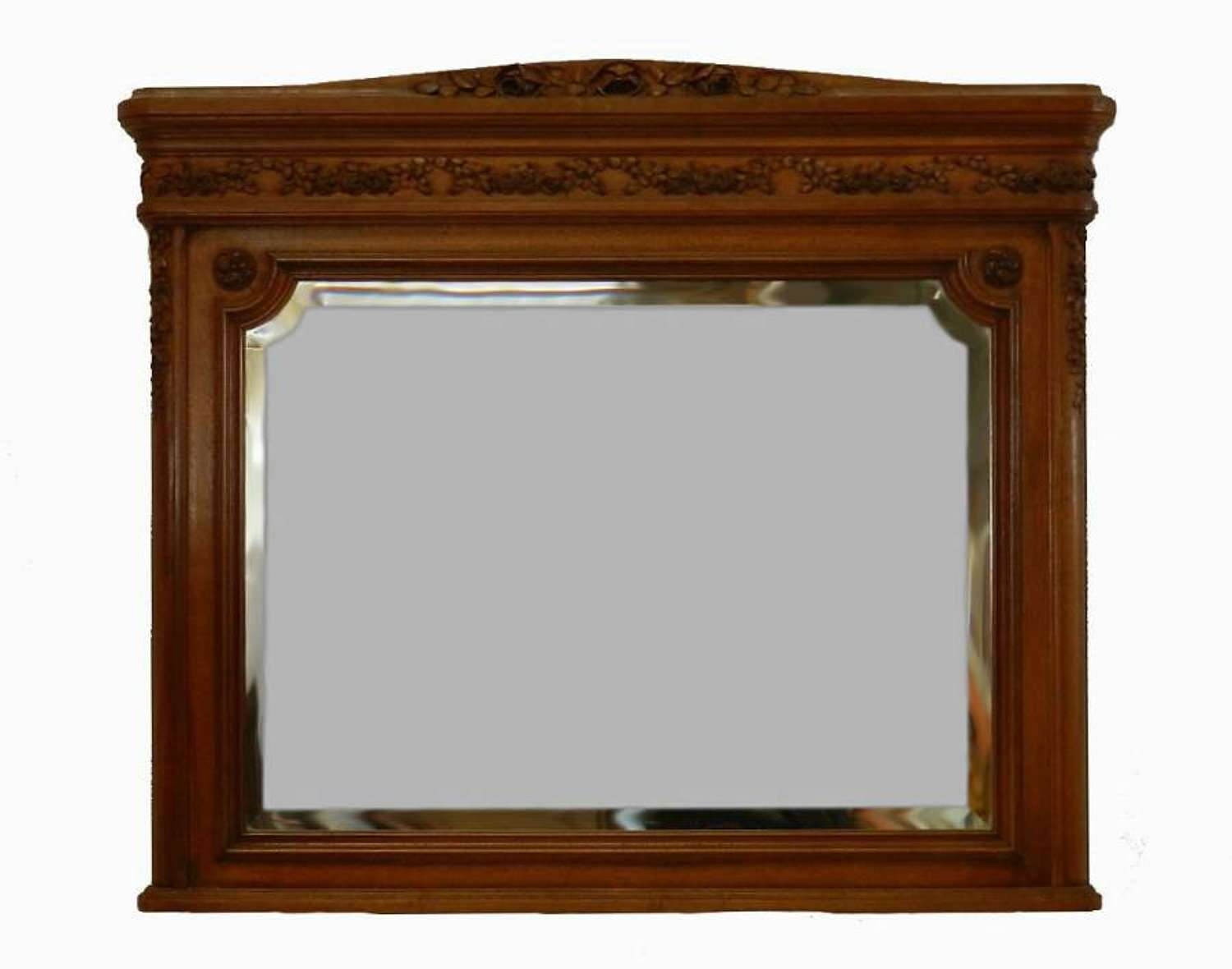 C19 French Wall Mirror Over mantle mantel