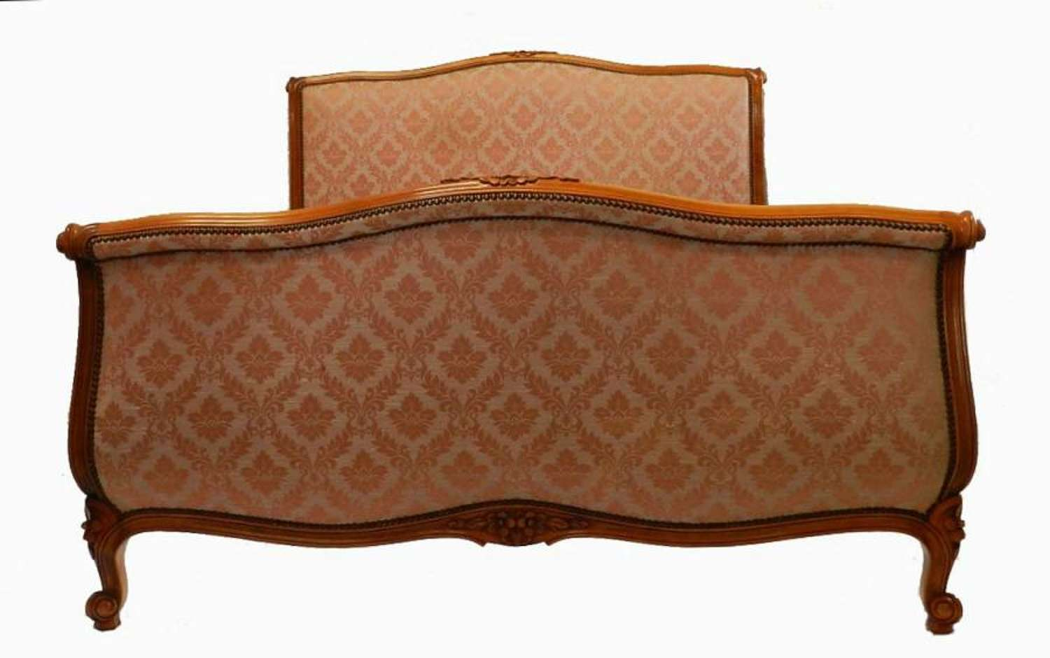 French Double Bed + Base or King size Scroll End Roll Top