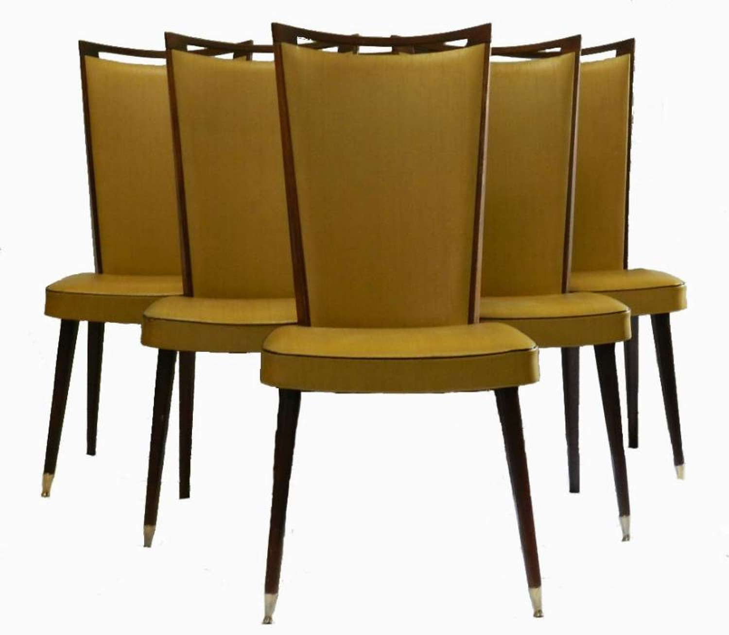 6 French Mid Century Dining Chairs