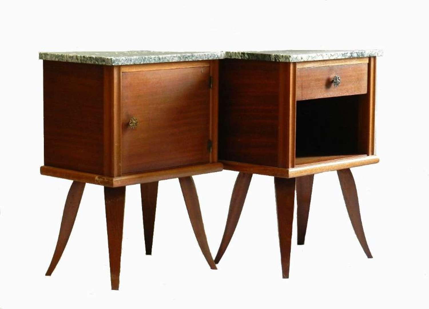 Pair of French Side Cabinets Nightstands Bedside Tables c1950