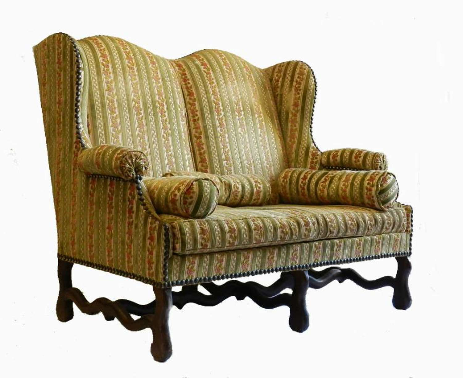 French Os de Mouton Sofa Wing Chair can be recovered