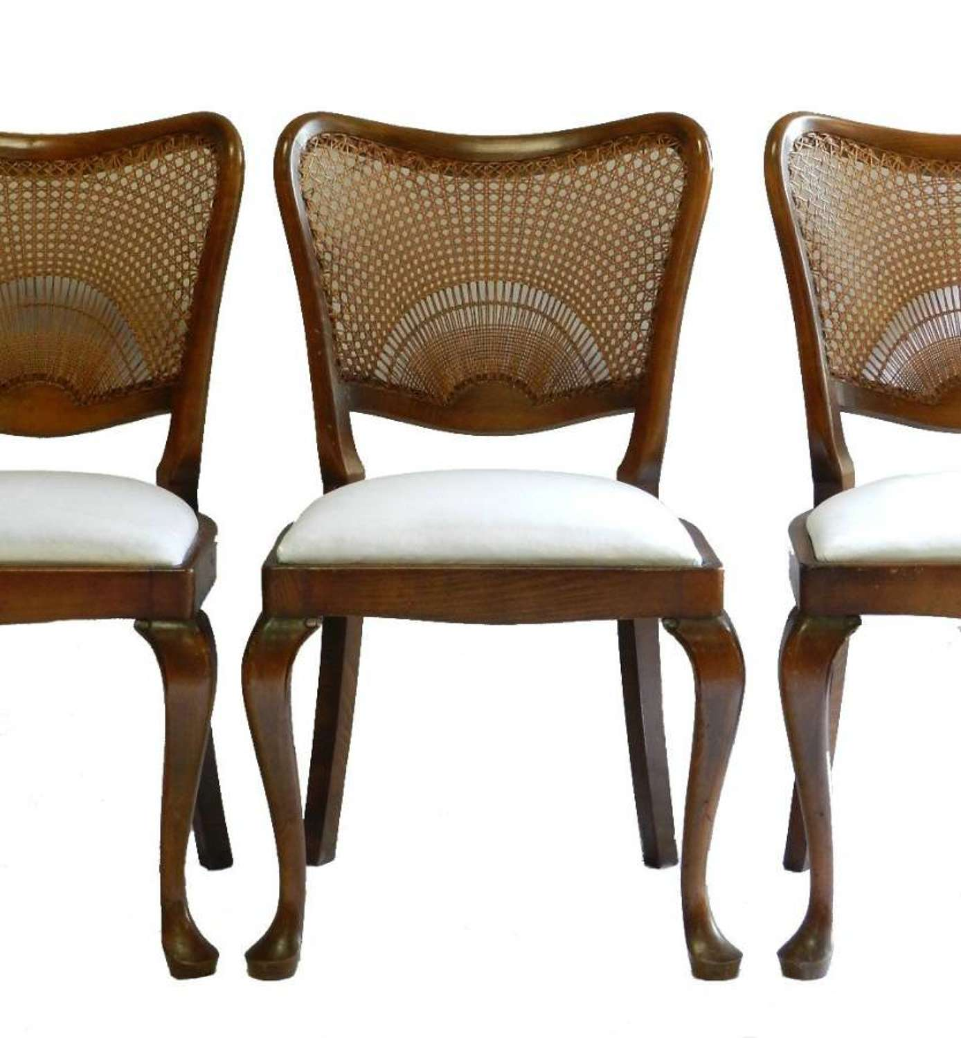 6 French Sunray Art Deco era Dining Chairs ready for top covers