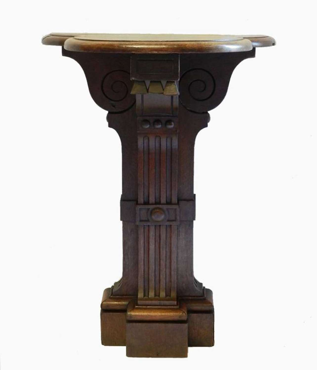 Unusual French C19 Gothic Rev Console Table Ecclesiastic Country Oak