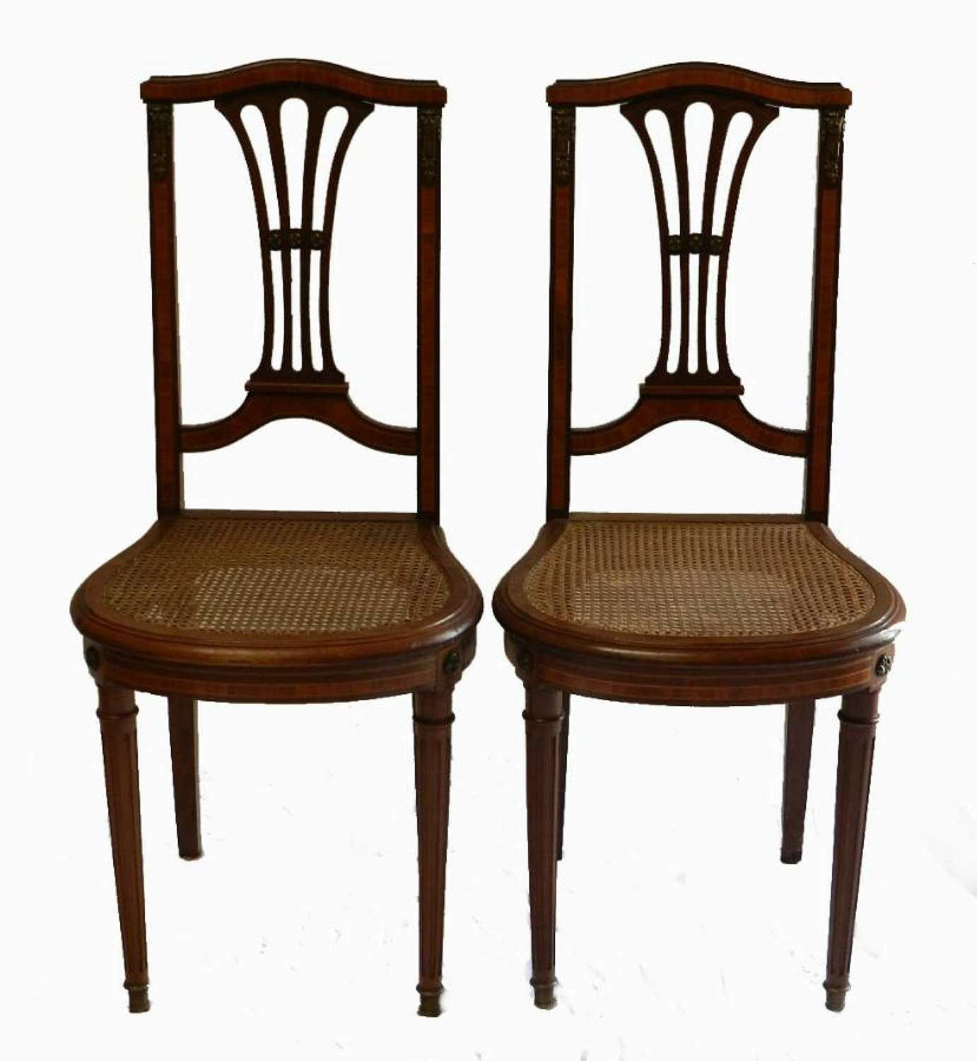 Pair of French Side Chairs Second Empire