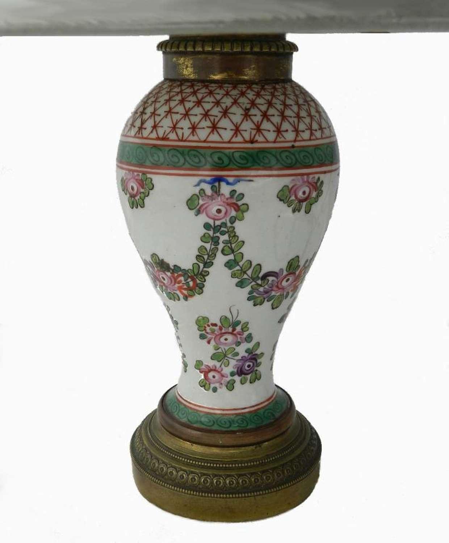 Antique French Porcelain Louis Lamp Base